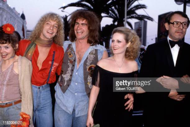 Treat Williams Annie Golden Beverly D'Angelo Milos Forman membres du film 'Hair' lors du Festival de Cannes le 10 mai 1979 France