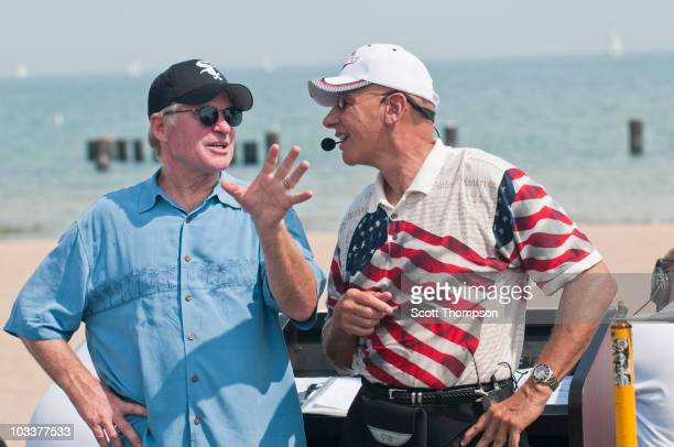 Treat Williams attends the Chicago Air Water Show at the Lakefront North Avenue Beach on August 13 2010 in Chicago Illinois