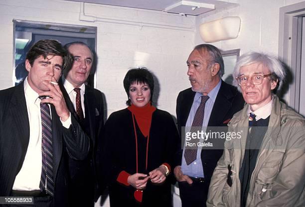 Treat Williams Liza Minnelli Anthony Quinn and Andy Warhol