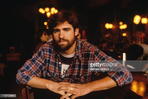 Treat Williams US actor wearing a plaid shirt circa 1990