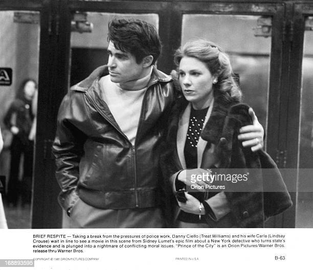 Treat Williams walks with Lindsay Crouse in a scene from the film 'Prince Of The City' 1981