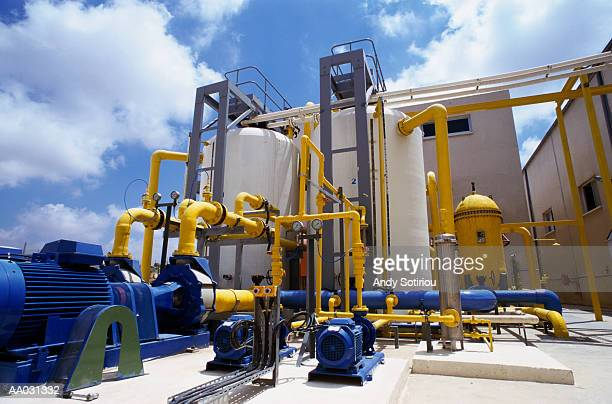 Treated Water Pipes in a Desalination Plant