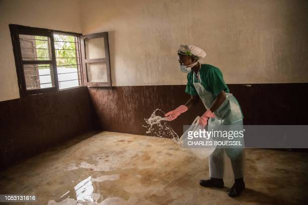 A treatment room at a monkeypox quarantine area of the centre of the International medical NGO Doctors Without Borders in Zomea Kaka in the Lobaya...