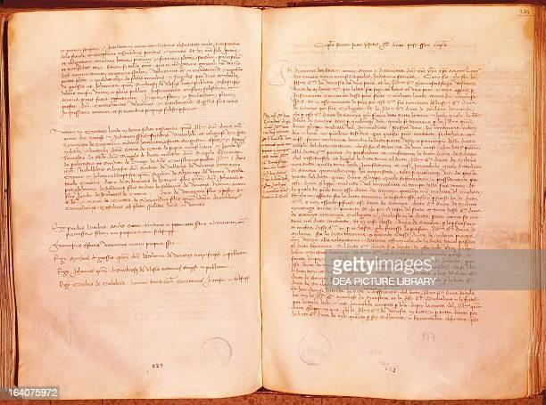 Treaty of Lodi also known as the Peace of Lodi concluding part of the treaty agreed between Venice and Milan April 9 1454 Italy 15th century Milan...