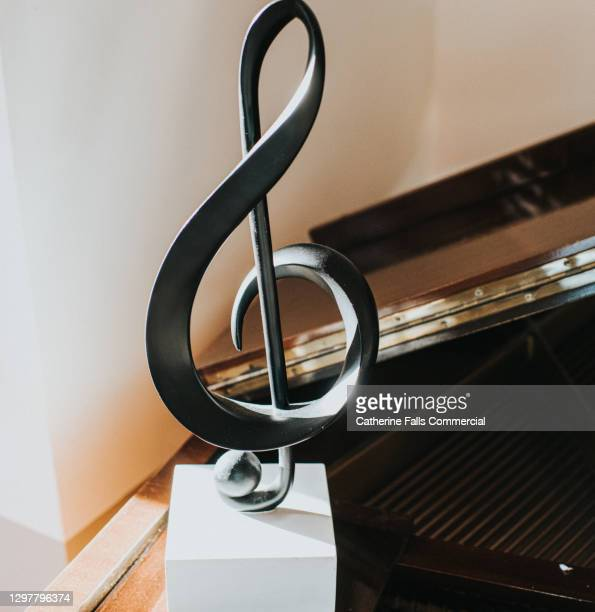 treble clef - symbolism stock pictures, royalty-free photos & images