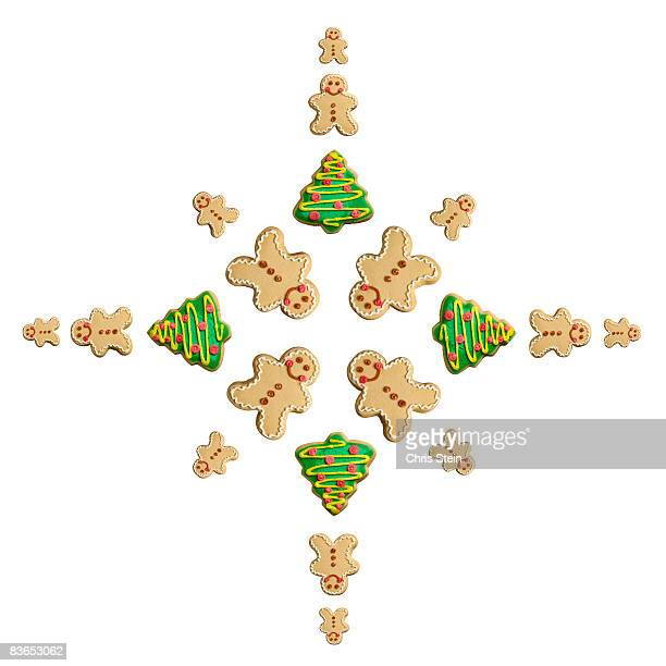 Tree and Gingerbread Man Cookie Snowflake