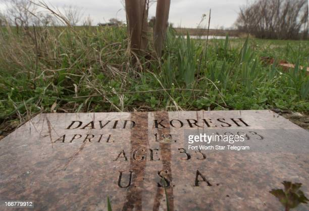 A tree and granite marker commemorates each of the 82 Branch Davidians and David Koresh who died in the April 19 1993 fiery end of a 51day standoff...