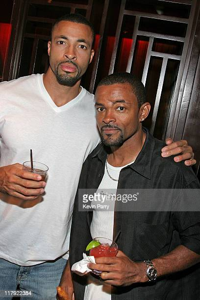 Tree Durrett and Ty Durrett during And1 Mixtape Tour Volume 9 Premiere After Party at White Orchid in Hollywood California United States