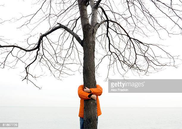 tree hugger - tree hugging stock pictures, royalty-free photos & images