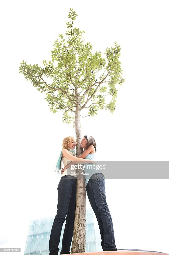 Tree Huggers : Stock Photo