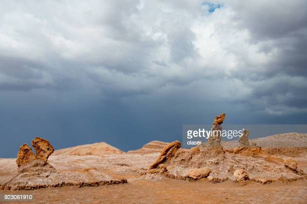 tree marias and dinosaur, atacama desert - moon valley mountains - extinct stock pictures, royalty-free photos & images
