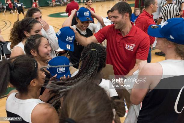 Tree of Hope Pacific Red celebrate after winning the game against Washington Evolution during the Jr NBA World Championship Northwest Regional Finals...