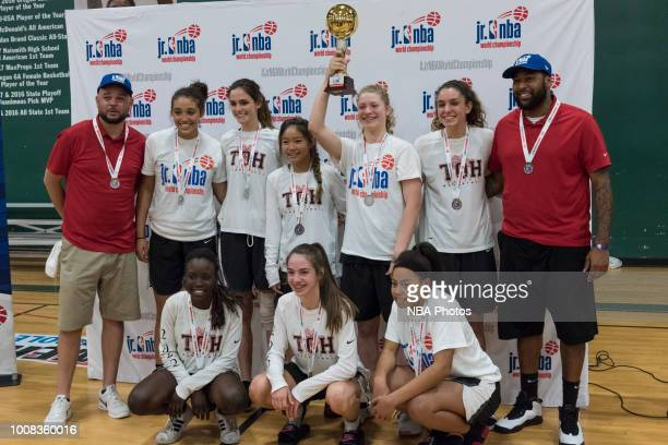 Tree of Hope Pacific Red celebrates with the trophy after winning the game against Washington Evolution during the Jr NBA World Championship...