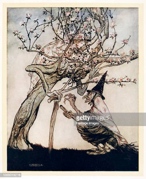 Tree of Mine O tree of mine Have you seen my naughty little maid from English Fairy Tales pub 1922 1922 Scene from The Two Sisters Artist Arthur...