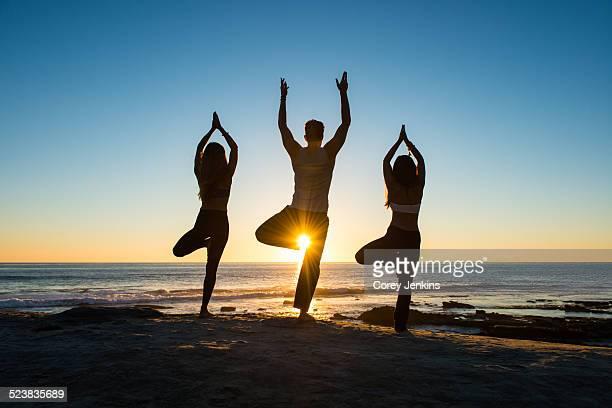 Tree pose, Windansea beach, La Jolla, California