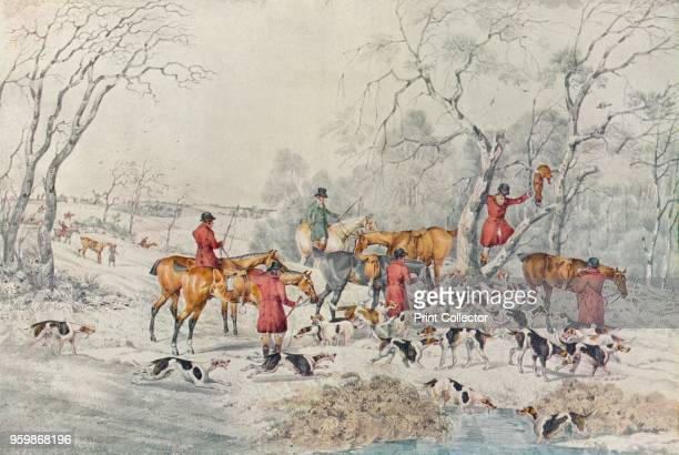 Treeing The Fox' circa 1800 From British Sporting Artists From Barlow to Herring by Walter Shaw Sparrow [John Lane The Bodley Head Limited London...