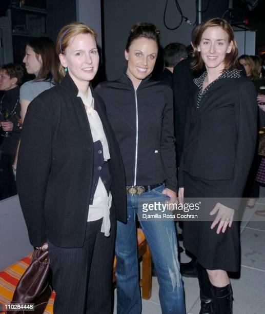 Treena Lombardo, Amanda Beard and Jennifer Moccia during W Magazine Celebrates the Launch of the 2006 Speedo Ad Campaign at Gansevoort Hotel in New...