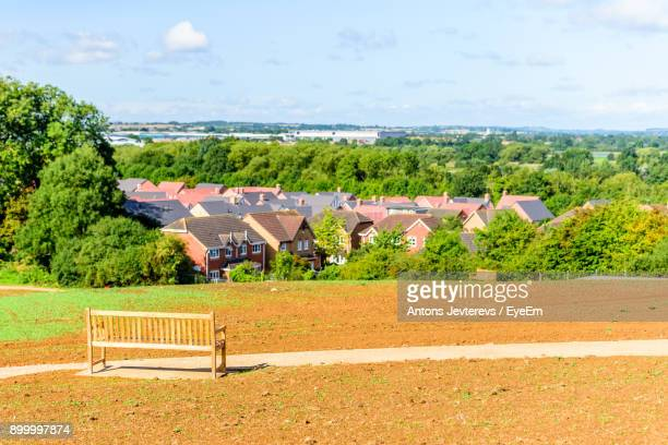 trees and built structure against sky - northampton england stock pictures, royalty-free photos & images