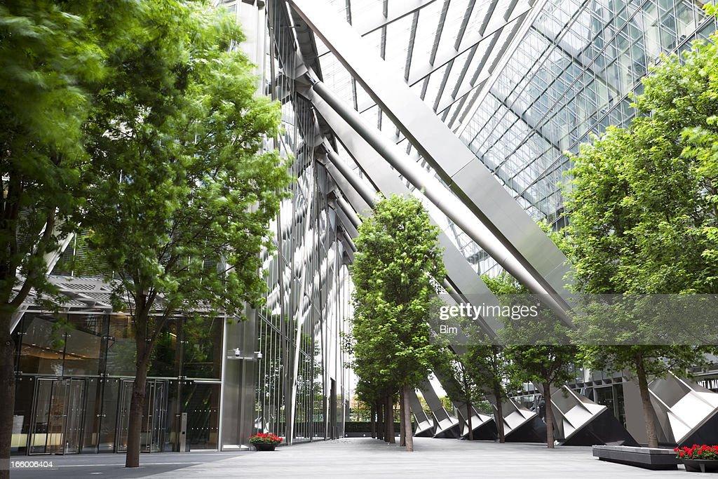 Bäume und Gebäude : Stock-Foto