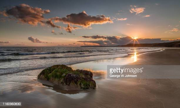 tregantle beach - beach stock pictures, royalty-free photos & images