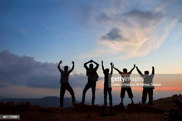 Trek, Mountains and Friends Sunset