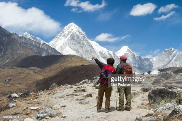 Trekkers Viewing Nepal Himalayas