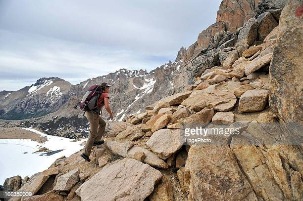 trekking argentina - eco tourism stock pictures, royalty-free photos & images