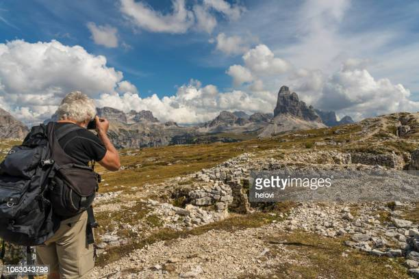 trekking dolomites - life in the trenches stock pictures, royalty-free photos & images
