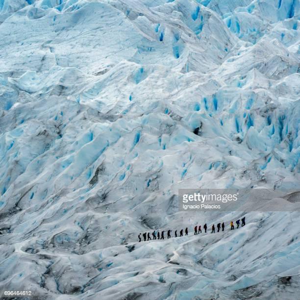Trekking during Perito Moreno Glacier walk, Glaciers National Park