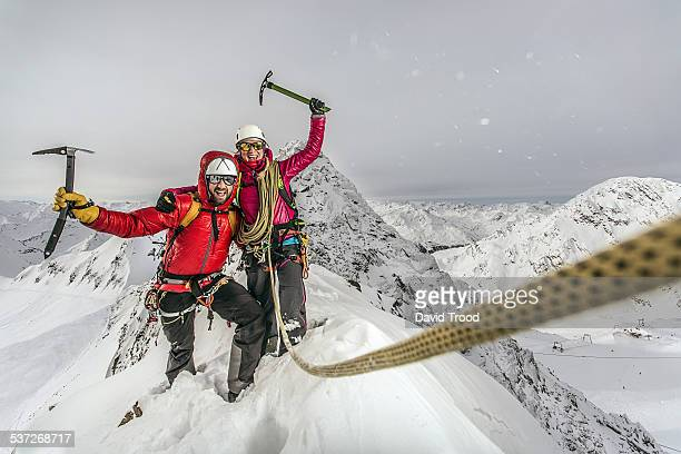 trekking in the austrian alps - endurance stock pictures, royalty-free photos & images
