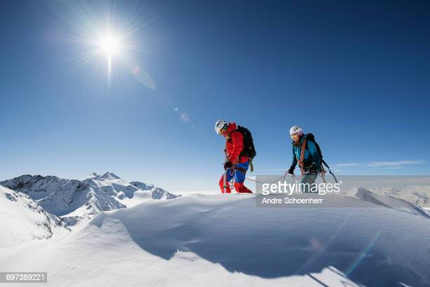 trekking in the austrian alps - leanincollection stock pictures, royalty-free photos & images