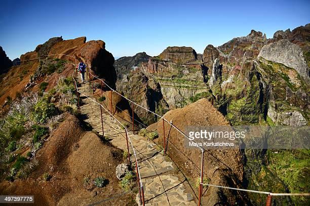 Trekking path in Madeira island, Portugal