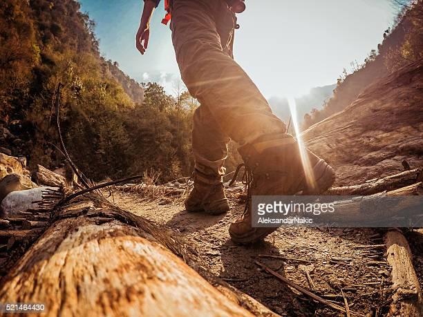 trekking - extremlandschaft stock-fotos und bilder