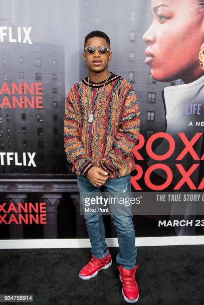 Tremaine Brown Jr attends the Roxanne Roxanne New York Premiere at SVA Theater on March 19 2018 in New York City