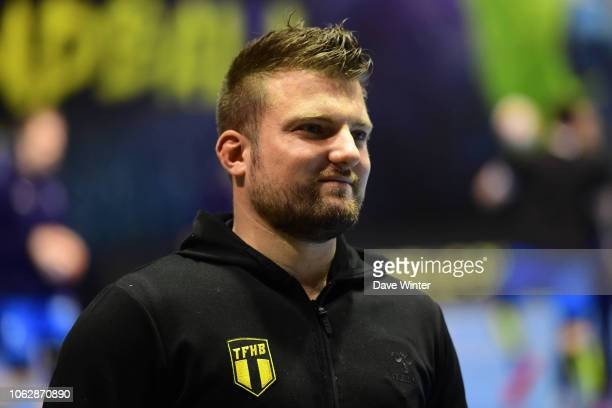 Tremblay coach Benjamin Braux during the Lidl Starligue match between Tremblay and Montpellier on November 17 2018 in TremblayenFrance France