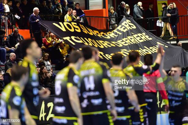 Tremblay fans during the Lidl Starligue match between Tremblay and Massy on December 6 2017 in TremblayenFrance France