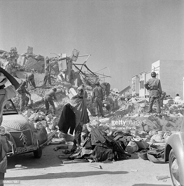 Tremblement de terre à Agadir Maroc en janvier 1960