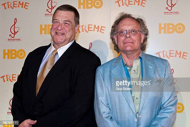 """Treme actor John Goodman and Creator and Executive Producer Eric Overmyer attend HBO's series """"Treme"""" New Orleans fundraiser at Generations Hall on..."""