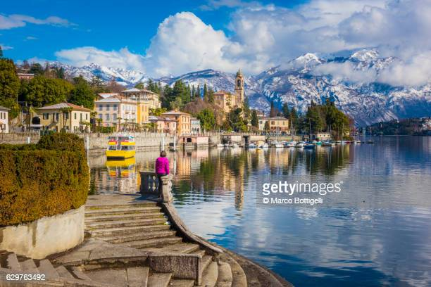tremezzo, como, lombardy, italy. - lombardy stock pictures, royalty-free photos & images