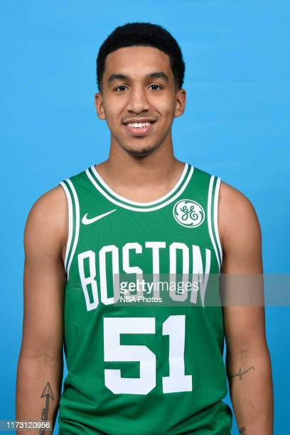Tremont Waters of the Boston Celtics poses for a head shot during media day on September 30 2019 at High Output Studios in Canton Massachusetts NOTE...