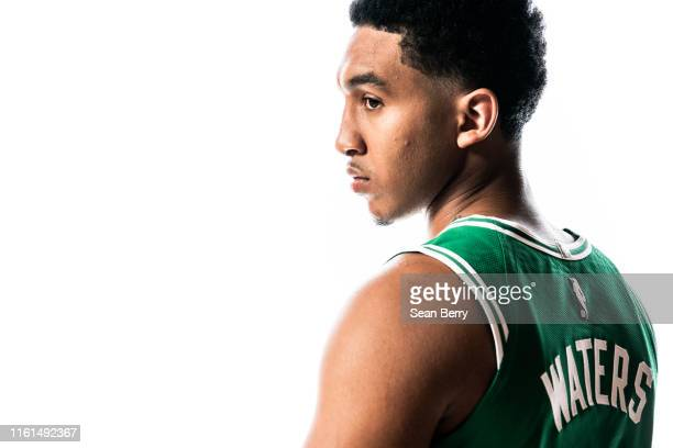 Tremont Waters of the Boston Celtics poses for a portrait during the 2019 NBA Rookie Photo Shoot on August 11 2019 at Fairleigh Dickinson University...