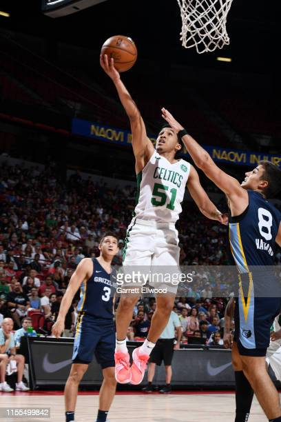 Tremont Waters of the Boston Celtics shoots the ball against the Memphis Grizzlies on July 13 2019 at the Thomas Mack Center in Las Vegas Nevada NOTE...