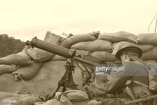 wwi trench sepia - world war i stock pictures, royalty-free photos & images