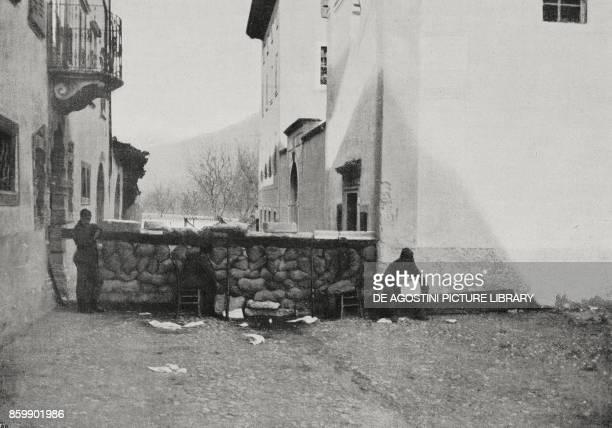 Trenches on the road to Rovereto in Trentino Italy World War I from L'Illustrazione Italiana Year XLIII No 19 May 7 1916