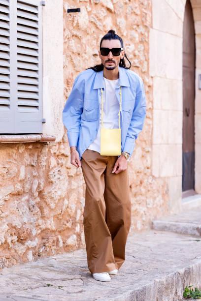 ESP: Julian Daynov Street Style In Palma de Mallorca, Spain