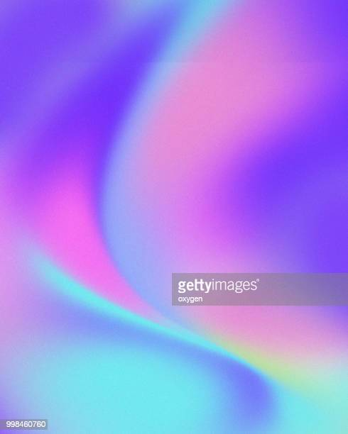 trendy colorful holographic abstract background - colour gradient stock pictures, royalty-free photos & images