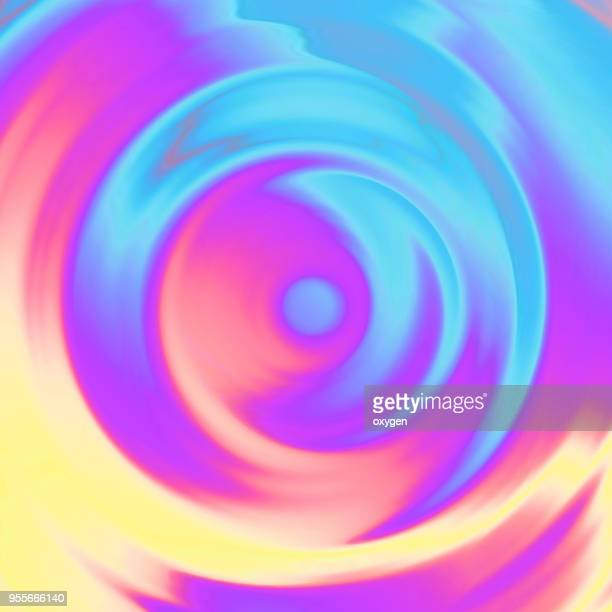 Trendy colorful Holographic swirl abstract background