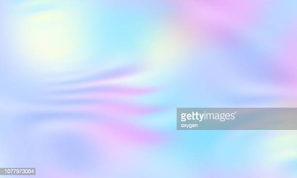 trendy colorful pastel colored holographic abstract background - hologram stock pictures, royalty-free photos & images