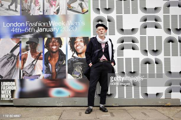 Trendy Gentleman attends the London Fashion Week Men's Day One Street Style.