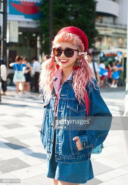 Trendy Japanese woman